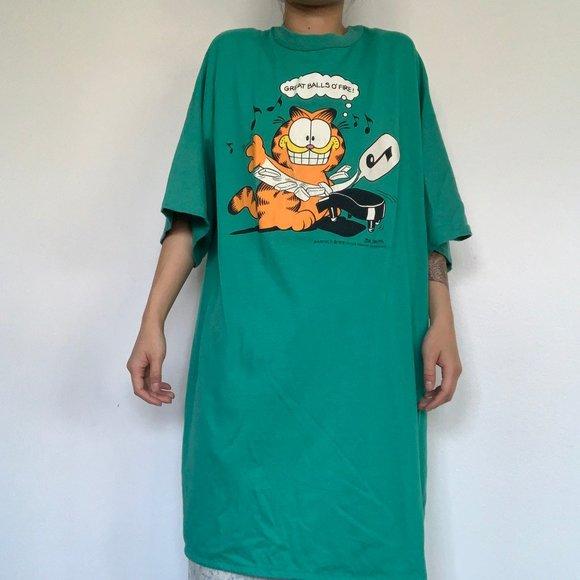 Vintage Shirts Garfield Music Sleep Tshirt Poshmark